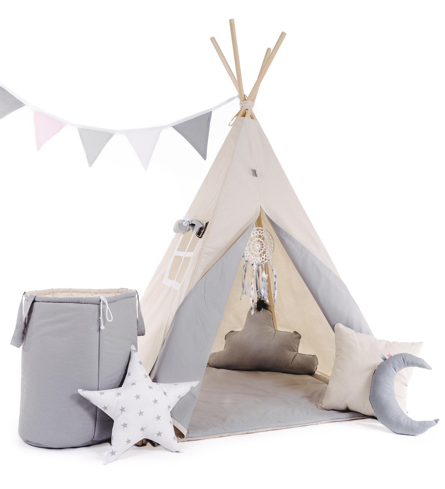 Tipi Teepee Indianerzelt Kinder Indianer Spielzelt Zelt mit und ohne ...